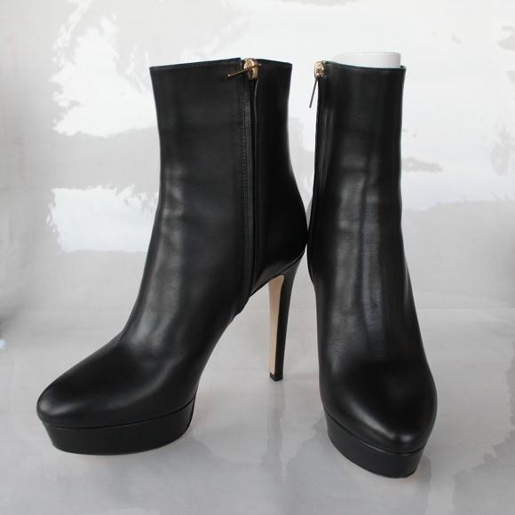 f8a8da2e632251 Jimmy Choo Women s Black Maggie 115 Leather Boots